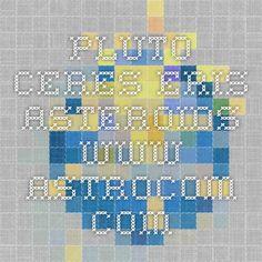 PLUTO CERES ERIS ASTEROIDS   www.astrocom.com