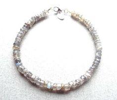 Labradorite bracelet/gemstone bracelet/silver by PepperandPomme, $25.00