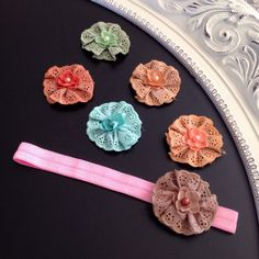Nannette Maple Flower with Interchangeable by HarChloBandsAndBows