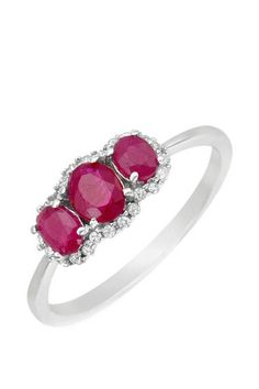 1.10 CTW Ruby Gold Ring | Brandsfever