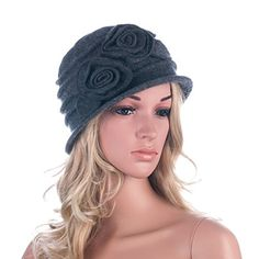 1920s Gatsby Womens Flower Wool Warm Beanie Bow Hat Cap Crushable A287 (Gray) Generic http://www.amazon.com/dp/B0152VWYEQ/ref=cm_sw_r_pi_dp_qIQiwb1784RM9