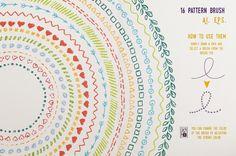 Illustrator Pencil Brushes by ZiziMarket on Creative Market