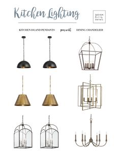a guide for pairing kitchen island lights with dining chandeliers when you have an open concept layout. Love these cost effective suggestions. Kitchen Island Storage, Kitchen Layouts With Island, Modern Kitchen Island, Ikea Kitchen, Kitchen Decor, Kitchen Islands, Kitchen Ideas, Kitchen Inspiration, Kitchen Tips