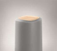 Philips, speaker, wood, fabric, mesh, grey