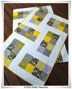 Kwilty Pleasures...baby quilts for twins.
