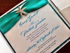 Little Mermaid Wedding Invitation - Would like the top décor part for the bridal shower invites.