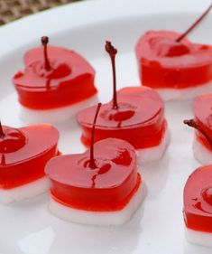 Heart-Shaped Jello Shots with Cherries - 14 Amorous Valentine's Day Treats for All Love Birds