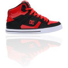 5af476fe89ab DC Spartan Hi Red Black Shoe ( 75) ❤ liked on Polyvore Exclusive Shoes