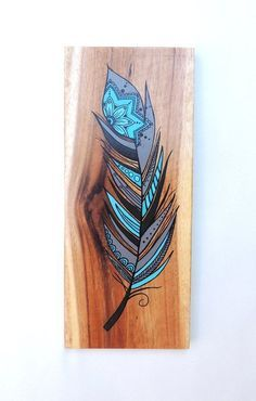 Your place to buy and sell all things handmade : Feather Wood Wall Art Feathers Feather Art Wall Art Wood Feather, Feather Art, Feather Painting, Feather Crafts, Wood Painting Art, Feather Design, Mandala Feather, Wood Burning Crafts, Wood Burning Patterns