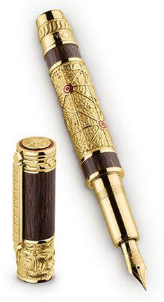 Omas Piri Reis Limited Edition Fountain Pen Vermeil Sterling Silver