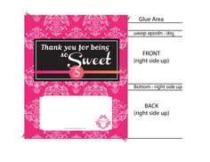 Candy Bar Wrapper Templates Free And Editable  Candy Bar