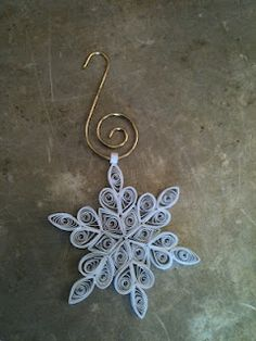 quilling snowflake ornament. One of several cute ones on here