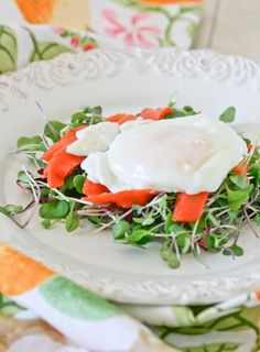 Smoked Salmon, Poached Eggs and Micro Greens