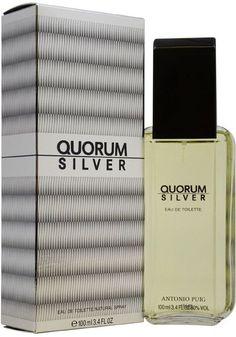 Men Antonio Puig Quorum Silver EDT Spray 3.4 oz