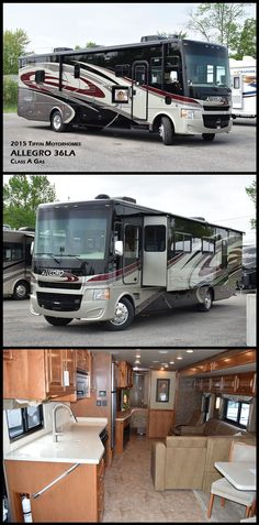 This 2016 ALLEGRO 36LA Class A Gas coach by Tiffin Motorhomes is a favorite of first-time RV owners, earning raves for its comfort, design, reliability, and affordability
