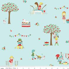 The Simple Life  Print Name: Main in Aqua  http://www.hawthornethreads.com/fabric/designer/tasha_noel/the_simple_life/main_in_aqua
