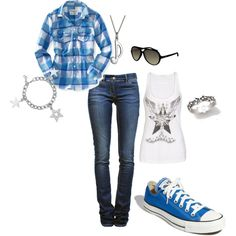 you can never go wrong with flannel and converse.