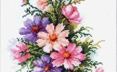 Çiçek Temalı Kanaviçe Örnekleri