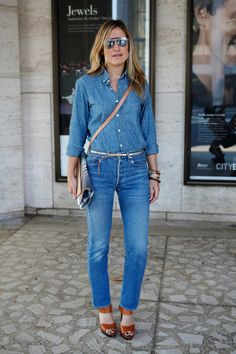 Daily Outfit Idea: Let's Talk Denim With Denim—Are You Open To Wearing It?