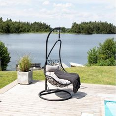 Hængestol til haven Outdoor Furniture, Outdoor Decor, Sun Lounger, Home Decor, Chaise Longue, Interior Design, Home Interior Design, Yard Furniture, Hammock Swing