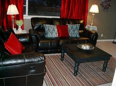 red and black living room | basement | pinterest | living rooms