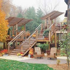 Ideas for a Family Deck love the curve on the cover wood