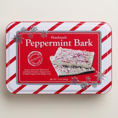 One of my favorite discoveries at WorldMarket.com: Peppermint Bark Tin
