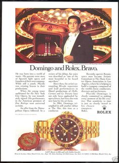 Placido Domingo - Rolex ad (1988)