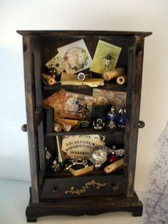 Gothic Witch spell hutch dollhouse miniature by MidnightsDreams, $40.50