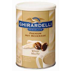 Ghirardelli Premium Hot Beverage Mix, White Mocha, Cans (Pack of White Chocolate Mocha, White Mocha, Hot Chocolate Mix, Chocolate Gifts, Cocoa Recipes, Chocolate Recipes, Gourmet Recipes, Dog Food Recipes, Chocolate Company
