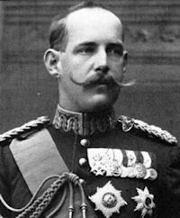Constantine I, King of Greece (1913-1917, 1920-1922), husband of Princess Sophie of Prussia. Constantine was a 2nd cousin of Czar Nicholas II and an uncle of Prince Phillip, consort of Queen Elizabeth II. He was made a German Field Marshall by his brother-in-law, Kaiser Wilhelm II of Germany.
