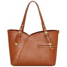 Office Style Zipper and Solid Color Design Shoulder Bag For Women (460 ZAR)  ❤ f9e84ece04e6c