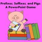 This pig-themed PowerPoint Game is a great way to learn about prefixes, suffixes, and root words.  It includes the following:  **prefix introductio...
