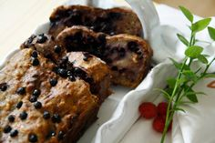 Banana bread with Blueberry filling