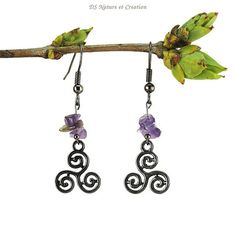 Pagan wiccan earrings amethyst jewelry by DSNatureetCreation https://www.etsy.com/listing/274840206/pagan-wiccan-earrings-amethyst-jewelry