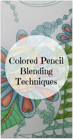 Colored Pencil Blending Methods