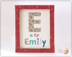 "Initial Art, Gift For Girl, Personalized Kids Wall Art, ABC Décor for Kids, Letter Art, Wall Art for Girl Room, Monogram Art Emily 11x14"" https://www.etsy.com/listing/240393401/initial-art-gift-for-girl-personalized?ref=shop_home_active_50"