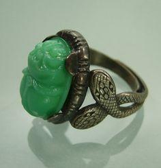 Jade scarab ring
