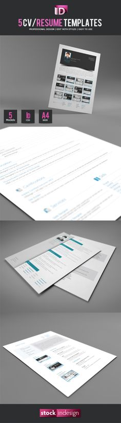 Ultimate Collection of Free Adobe InDesign Templates Job Tips - resume in indesign