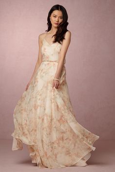 blush floral bridesmaid dress | Inesse Dress by Jenny Yoo for BHLDN