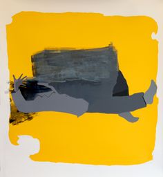 Etzev - Life after death_silkscreen - monotype_125x150cm