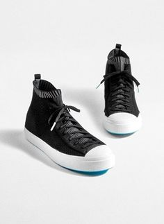 We started with an icon and added innovation. A breathable stretchy knit converts a classic sneaker into a slip-on future classic. Sustainable Clothing Brands, Classic Sneakers, Adidas Sneakers, Slip On, Sandals, Store, Boots, Clothes, Fashion
