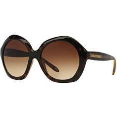46b8d95f46 Tf4116 56 Brown Square Sunglasses ( 320) ❤ liked on