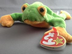 TY Beanie Baby Collection Smoochy Frog Stuffed Animal Toy Beanbag Tags Retired  #Ty Doll Toys, Pet Toys, Dolls, Beanie Babies, Ty Beanie, Mcdonalds Toys, Polly Pocket, Sailor Scouts, Care Bears