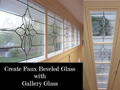 how to create a faux beveled Glass look using Gallery Glass Paints. I would love to get my feet wet by first making a hanging faux stained glass piece.