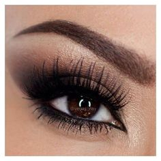 Makeup How-To Sexy Bronze Smoky Eyes ❤ liked on Polyvore featuring beauty products, makeup, eye makeup, eyes and beauty