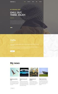 Personal Page WP Theme wordpress website template Wordpress Website Design, Wordpress Theme Design, Web Design, Page Design, Archive Website, Phone Plans, Ecommerce Solutions, Wordpress Template, Website Template