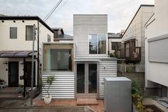 Architect Design House, House Design, Life Design, House Tokyo, Simple Floor Plans, Compact House, Small Terrace, Japanese Architecture, Open Plan Kitchen