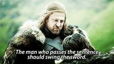 While this may be a controversial choice, Ned Stark embodies the Hufflepuff qualities of fairness and justice. His actions aren't motivated ...