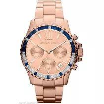 Relógio Michael Kors Mk5755 Rose Cristal Lindo Caixa/manual